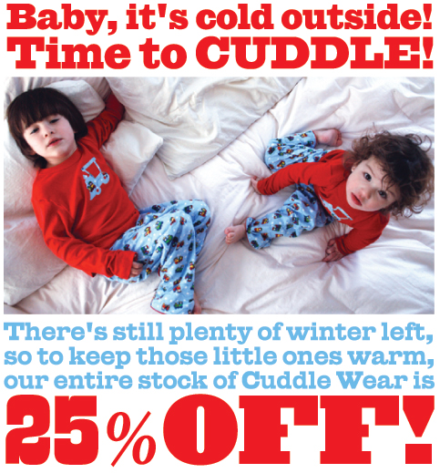Cuddlewear25off